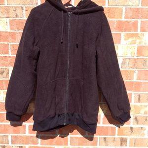 St. John's Bay Men's XL Black Hoodie Zip Front